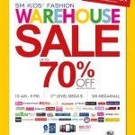 Enjoy up to 70% off on SM Kids' Warehouse Sale