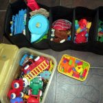 This boy now knows how to segregate his toys