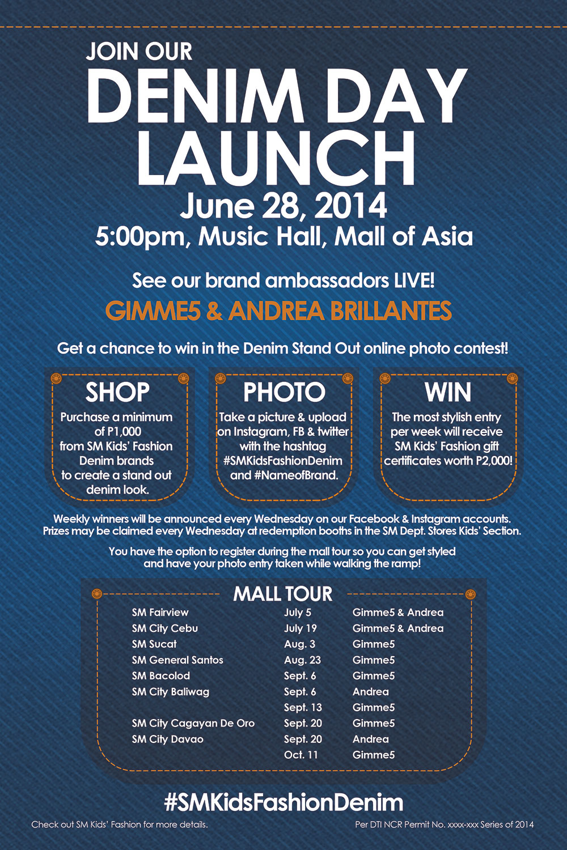 join sm kids u0026 39  fashion denim day launch