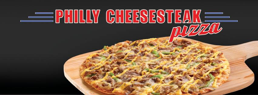 Pilly Cheesesteak pizza