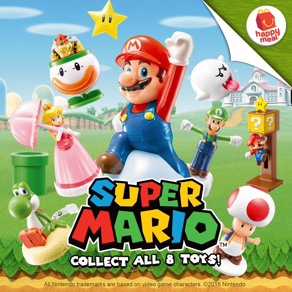 Mcdonald s happy meal super mario toys 2016 for Happy playsets